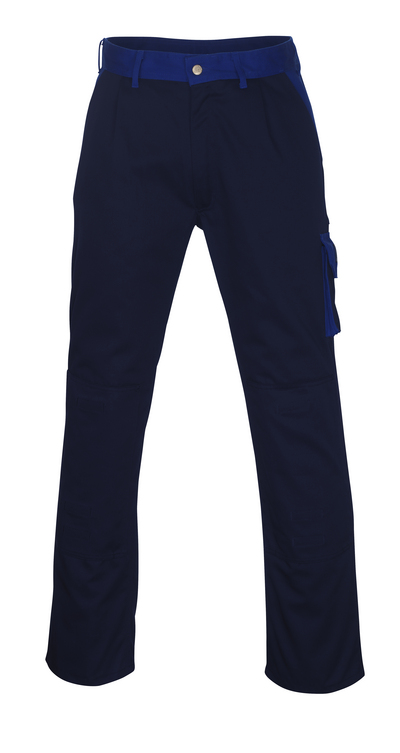 MASCOT® Torino - navy/royal - Trousers with kneepad pockets, high durability