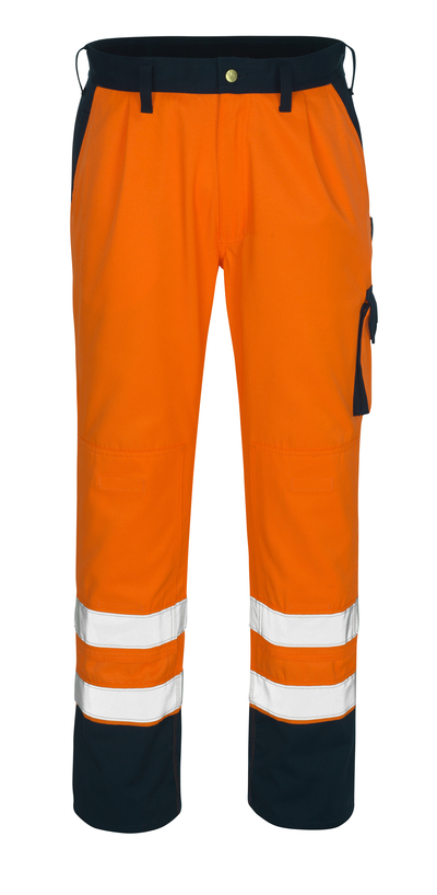 MASCOT® Torino - hi-vis orange/navy* - Trousers with kneepad pockets, class 1/2