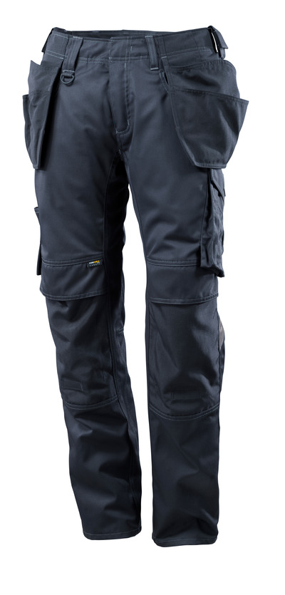 MASCOT® UNIQUE - dark navy - Trousers with CORDURA® kneepad pockets and holster pockets, lightweight
