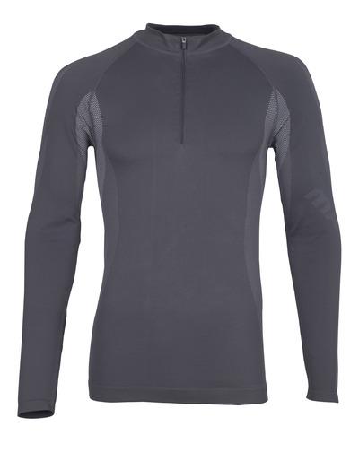 MASCOT® Valongo - dark anthracite - Functional Under Shirt with half zip, lightweight, moisture wicking
