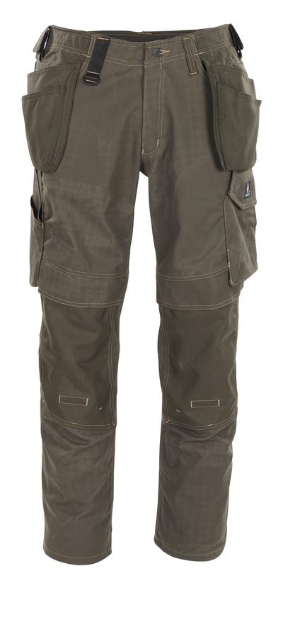 MASCOT® Velho - dark olive with print* - Craftsmen's Trousers