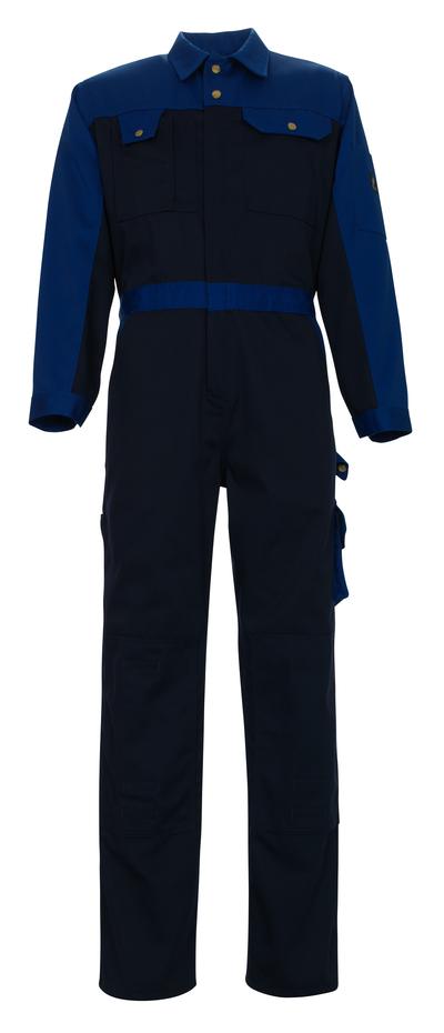 MASCOT® Verona - navy/royal - Boilersuit with kneepad pockets, high durability