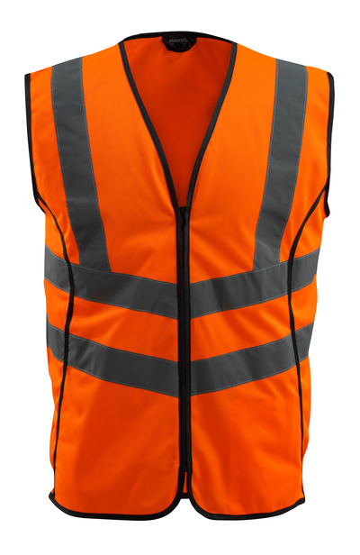 MASCOT® Wingate - hi-vis orange - Traffic Vest with zipper, class 2
