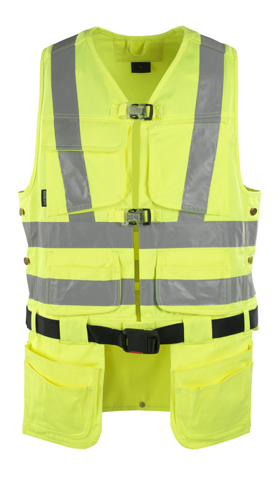MASCOT® Yorkton - hi-vis yellow - Tool Vest with four holster pockets, class 2/2
